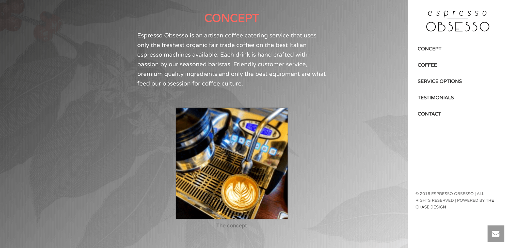 Espresso Obsesso - The Chase Design