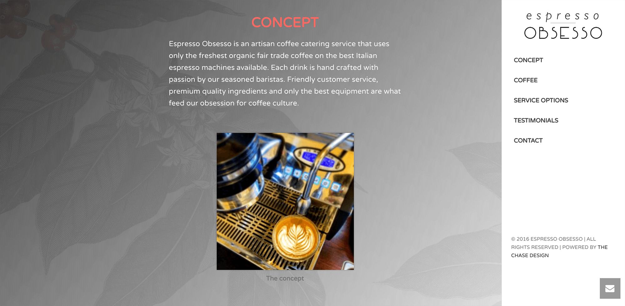 Espresso Obsesso - The Chase Design